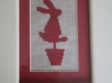 Topiary Hare Cross Stitch Kit