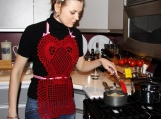"Sexy ""Red Heart"" Crocheted Valentine's Day Apron"