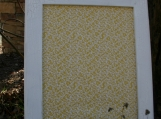 "White Vintage Style Frame with decorative Cork Board 22""x26"""