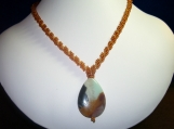 Amber Spiral Rope Pendant