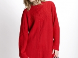 Bright Red Lady's Sweater