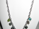 Chain Necklace with Glass Beads