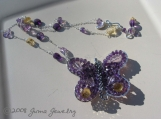 JUMA Jewelry - Mariposa's Secret - BUTTERFLY THEME - Amethyst, Pink Amethyst, Citrine and Peacock Seed FW Pearls