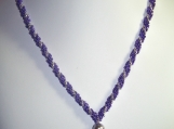 Purple & Silver Spiral Rope Necklace