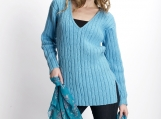 Sky-blue Lady's Sweater