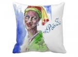 "Handmade Beautiful African Fashionista Throw Pillow 20"" x 20"""