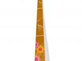 Elegant Butterscotch and Pink Daisies Designer Necktie, Tie