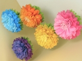 12 Tissue Paper Flower Blooms, you pick colors