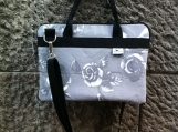 Grey roses laptop bag - ZsurigoWorks