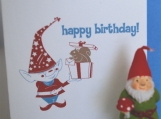 Gnome Birthday Surprise (birthday card)