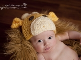 Infant - Hand Crocheted Baby Giraffe Hat