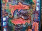 Vanishing Movement, Mixed Media Collage