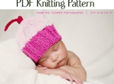 Boston Beanies Knit Baby Cupcake Hat Pattern