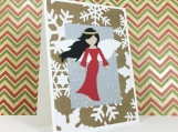 Snowflake Angel Handmade Christmas Card