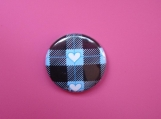 Blue Lumberjack Heart Pin