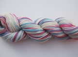 Hand Painted Lilac Blue Pink Sock Yarn