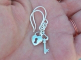 """Key to My Heart"" Sterling Silver Charm Earrings"
