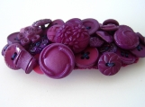 Purple Button Barrette