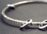 Square Peg / Round Hole Sterling Silver Bangle