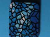Stained Glass Look Hand Painted Original Pendant