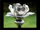 Tripod Garden Stake with Rose Finial