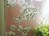 Chalk Pink Rose Print Cushion Cover