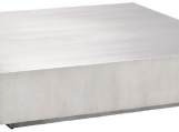 Satin Stainless Steel Coffee Table