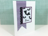 Hand Made Halloween Card Batty Boo!