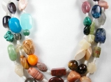 Breathtaking - Staci Rose Multi Gemstone 3-Strand Necklace