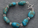 Coppertone Turquoise Bracelet