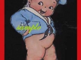 Darling Kewpie Magnet  Dressed as A Sailor..So Cute