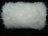 Faux Fur Hand muff white shag Great for weddings!