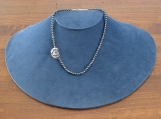 Hematite and Silver Rose Necklace