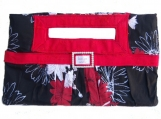 Must Have & Hold Clutch - red trim - veg.