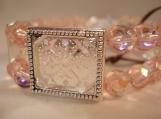 pink, 4 frame, picture frame bracelet -