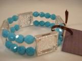 turquoise, 4 frame, picture frame bracelet