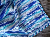 Knitted blanket for a toddler, baby gift, nauitical blue bedding