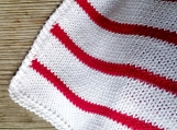 Modern white and red blanket, cotton cozy throw, Christmas decor