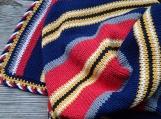 Nautical blanket, READY TO SHIP handmade cotton blanket for boy