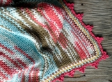 Retro colors baby cotton blanket for a baby, baby shower gift
