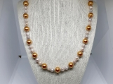 Vintage Gold And Shell Bead Necklace