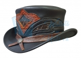 The Storm Leather Top Hat