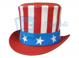 American Flag Leather Top Hat