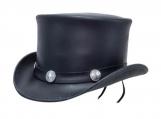 Buffalo Nickel Leather Top Hat