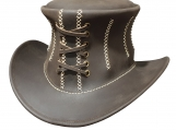 Corset Leather Top Hat