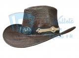 Crocodile Skin Leather Hat