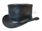 Hampton Black Leather Western Top Hat
