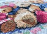 Handmade cross stitch finished product- Bear doll