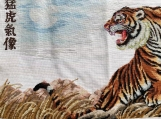 Handmade cross stitch finished product-Tiger down the mountain