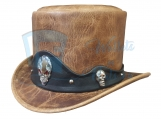 Red Eye 3D Skull Band Top Hat